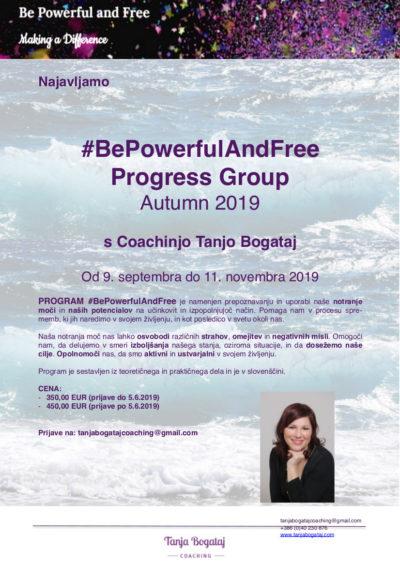 #bepowerfulandfree Progress group (Autumn 2019) – open enrollment, starting September 9, 2019