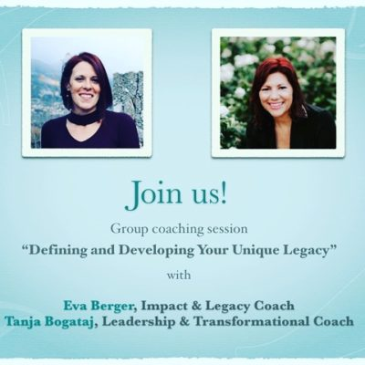 Identify and Develop your Unique Legacy – Online Group Coaching session